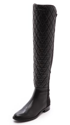 Stuart Weitzman Quilt Stretch Boots | Shopbop | Quilted, over-the-knee boots... YES, PLEASE!