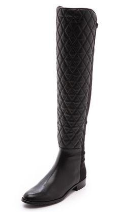 coveting: stuart weitzman quilt stretch boots