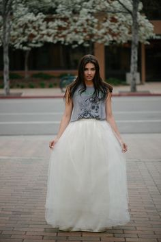 Women S Designer Maxi Tulle Skirt Ivory Styled Skirts Tutu Satin Slip