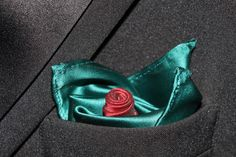 How to Fold a Pocket Square - Rose fold with 2 pocket squares.  How To Video