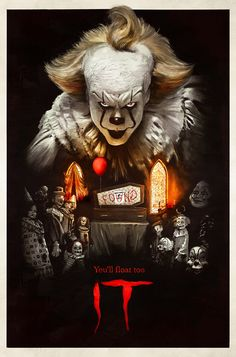 From the acclaimed 2017 horror film IT, drawn from the pages of Stephen King's original novel, NECA and GameStop present the exclusive version of Pennywise in action figure form! Scary Movie Characters, Zombie Movies, Scary Movies, Horror Icons, Horror Movie Posters, Horror Movies, Netflix Horror, Funny Horror, Netflix Movies