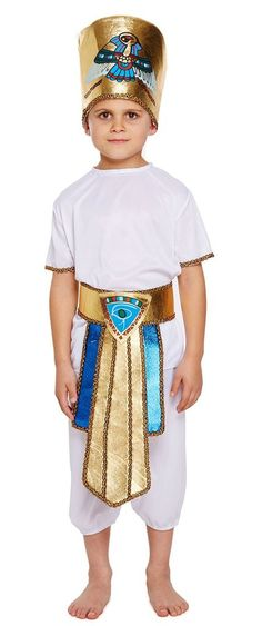 Children's Egyptian Boy Fancy Dress Costume Halloween Books, Cool Halloween Costumes, King Hat, Fancy Dress For Kids, Tutankhamun, Egyptian Costume, Full Body Costumes, Costume Accessories, Outfits