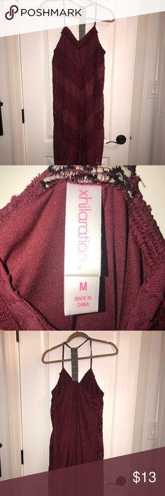 Xhilaration Dress Maroon dress. Perfect for casual event.  💕target buy 💕smoke free pet free Dresses Maxi