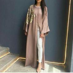 Contemporary Robes, long cardigans, Abaya, Modest Fashion and Hijab style Islamic Fashion, Muslim Fashion, Modest Fashion, Fashion Outfits, Modest Wear, Modest Dresses, Modest Outfits, Abaya Designs, Estilo Abaya