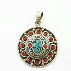 Mosaic Turquoise Tiles Silvertone Jewelry Nepal Fashion Pendants Jewellry Gift Jewelry Trends, Pocket Watch, Latest Fashion, Fashion Jewelry, Turquoise, Pendant Necklace, Accessories, Style, Pocket Watches