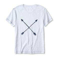 Banana Republic Mens Arrows Graphic Tee (35 CHF) ❤ liked on Polyvore featuring men's fashion, men's clothing, men's shirts, men's t-shirts and white