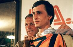 1978, Johan Cruyff signs for Los Angeles Aztecs as Dutch Coach Rinus Michels introduces him to his club strip, Johan Cruyff, one of the greatest players of all time won 48 international caps for Holland