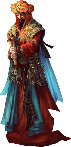 character concept Human male vizir oriental noble highrank mage Sharum