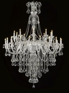 """CJD-C181-CS/20040/24SW Gallery Murano Venetian Style New! Chandelier Dressed Trimmed With SPECTRA™ CRYSTAL – Reliable crystal quality by Swarovski® 52""""X60"""""""