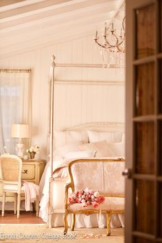 Design Dilemma: Tips for hiding a television & media in your home - FRENCH COUNTRY COTTAGE French Country Cottage, French Country Style, French Country Decorating, Cottage Style, Country Décor, Farmhouse Remodel, Romantic Homes, Romantic Bedrooms, French Interior