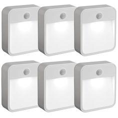 Mr. Beams Mr Beams MB726 Battery Powered Motion Sensing LED Nightlight, White, 6-Pack