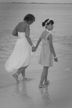Bride & flower girl (new God-daughter)