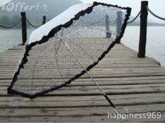 Transparent Lace-trim Umbrella - $42.50 (iOffer)