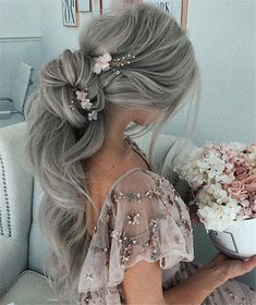 70+ Prom Hairstyles Trendy Inspiration For 2019 – Page 67 – Chic Cuties Blog Prom Hairstyles For Long Hair, Long Curly Hair, Pretty Hairstyles, Braided Hairstyles, Wedding Hairstyles, Curly Hair Styles, Wavy Hair, Hairstyles 2016, Style Hairstyle