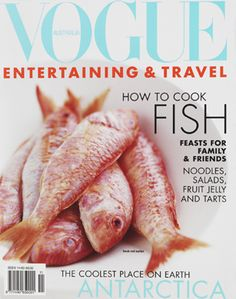 Vogue Magazine With Fish On The Cover