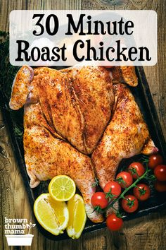 Serve a perfectly roasted chicken with side dishes in just 30 minutes. Enjoy moist flavorful chicken with crispy skin every timeheres how. Quick Weeknight Meals, Quick Easy Meals, Easy Dinner Recipes, Breakfast Recipes, Easy Recipes, Real Food Recipes, Cooking Recipes, Healthy Recipes, Cooking Tips