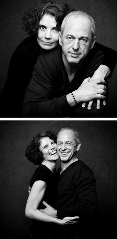 Portraits De Couple En Studio En Noir Et Blanc