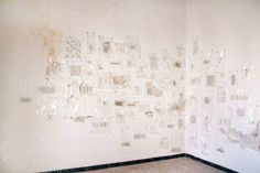 Ana Moya. The Journey of the Myth. Dolls II. Installation. 2013, China dolls, drawings, maps, documents and video. Variable dimensions.