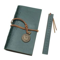 1Pcs Retro Vintage Leather Notebook Kraft Paper Notebook Portable Planner Diary Book Travel Journal Office School Supplies Gift