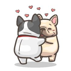 French Bulldog PIGU-Sticker VIII Emoji Pictures, Cute Cartoon Pictures, Bulldog Gif, Bulldogs, I Love You Pictures, Funny Bears, Cartoon Gifs, Cute Memes, Cute Dogs And Puppies