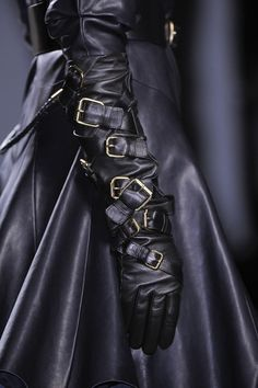 Prabal Gurung Fall 2013; straightjacket gloves
