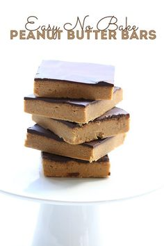 No Bake Low Carb Peanut Butter Bars