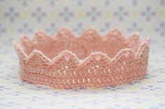 Crochet crown.  I would love to make this for the next little baby girl to come around!
