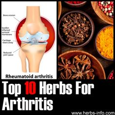 Herbs For Arthritis - detailed list with research, references and background info.