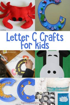 Letter C Crafts Letter C Crafts for preschool or kindergarten - Fun, easy and educational! Students will have fun learning and making these fun crafts!