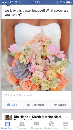 The bride's bouquet is almost as important as her wedding dress. With so many flowers and options, it is time to put together your own spring wedding bouquet. Wedding Wishes, Our Wedding, Dream Wedding, Wedding Blog, Trendy Wedding, Wedding Pins, Wedding Summer, Wedding Ceremony, Elegant Wedding