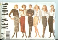 Skirts+NEW+LOOK+6102+Size+8-18+sewing+pattern+uncut