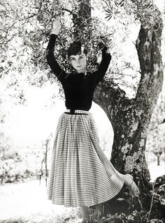 this woman had serious style!! --Audrey Hepburn photographed by Philippe Halsman, 1954--
