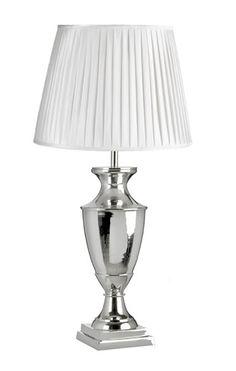 Lampe Crome/Nicel E27 høyde 56cm