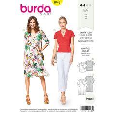 Burda  Burda Style Pattern B6443 Misses' Jersey Dresses sewing pattern