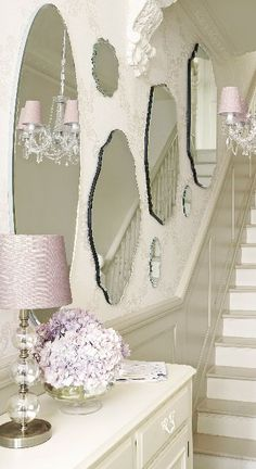 Shabby Chic Home Decor Shabby Chic Bedrooms, Shabby Chic Homes, Shabby Chic Style, Shabby Chic Decor, Shabby Chic Hallway, Hallway Decorating, Home And Deco, Spring Home, My New Room
