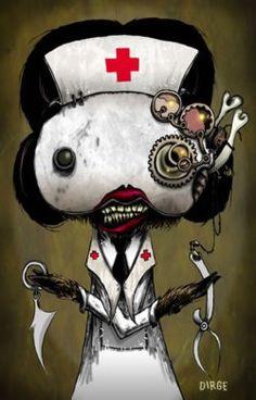 Creepy Nurse by Roman Dirge