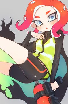 See more 'Splatoon' images on Know Your Meme! Splatoon Squid, Splatoon 2 Art, Splatoon Comics, Squid Girl, Nintendo Characters, Cartoon Games, Manga Pictures, Video Game Art, Fire Emblem