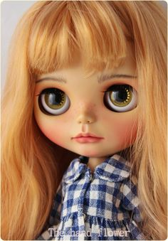 RESERVED on layaway by Stephanie. OOAK Custom Blythe doll Face up and Customized Blythe. Ask a question by Thehandflower on Etsy https://www.etsy.com/listing/513790902/reserved-on-layaway-by-stephanie-ooak
