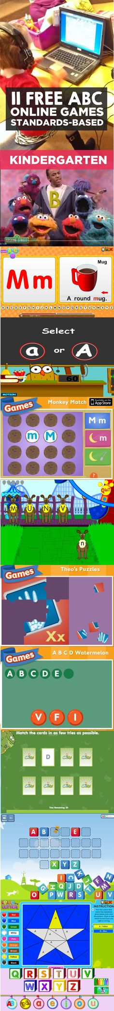 Love these free alphabet games online for kindergarten - so easy to use