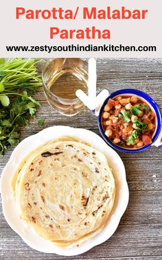 Delicious parotta/Malabar Paratha made with just flour and few ingredients. Excellent flat bread goes well with any spicy curry. Best Bread Recipe, Easy Bread Recipes, Veggie Recipes, Around The World Food, Flatbread Recipes, Indian Food Recipes, Ethnic Recipes, Flat Bread, Indian Kitchen