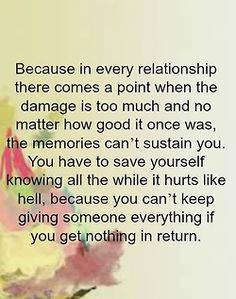 bestlovequotes: In relationship, there comes a point when the damage is too much Follow best love quotes for more great quotes!