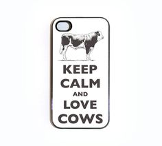 Keep Calm And Love Cows iPhone 4 case