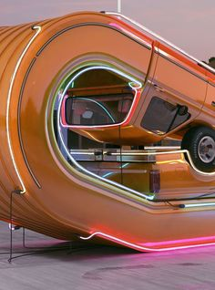 Tales of Auto Elasticity UK designer Chris Labroody's new project, Tales of Auto Elasticity, reprises the concept of beautiful retro cars in positions that defy gravity.