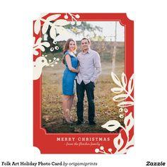 Folk Art Holiday Photo Card