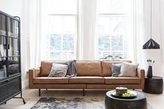 Leather Sofa Rodeo in cognac