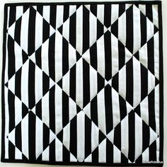 Black Grey And White Quilt Patterns Black And White Quilts Black And White Bargello Quilt Patterns Black And White 2 Optical Illusion Art Quilt 3d Quilts, Strip Quilts, Quilt Blocks, Op Art, Optical Illusion Quilts, Optical Illusions, Geometric Quilt, Geometric Designs, Black And White Quilts