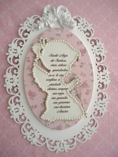 Ideas Habitaciones, Paper Angel, Baby Decor, Baby Shower Favors, Picture Frames, Decoupage, Diy And Crafts, Mandala, Shabby Chic