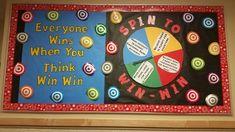 THINK WIN WIN Bulletin Boards | Think Win Win Bulletin Board, Leader In Me, Habits Bulletin, Bulletin ...