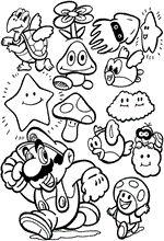 coloring page Super Mario Bros