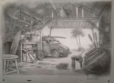 From My Archives: Visual Development Sketches for Lilo and Stitch